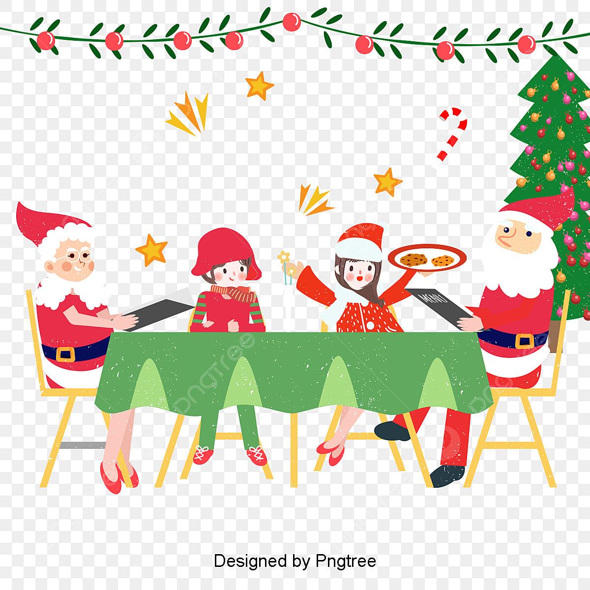 Christmas Celebration Cartoon Images.Christmas Celebration Illustration The Warm Gathering