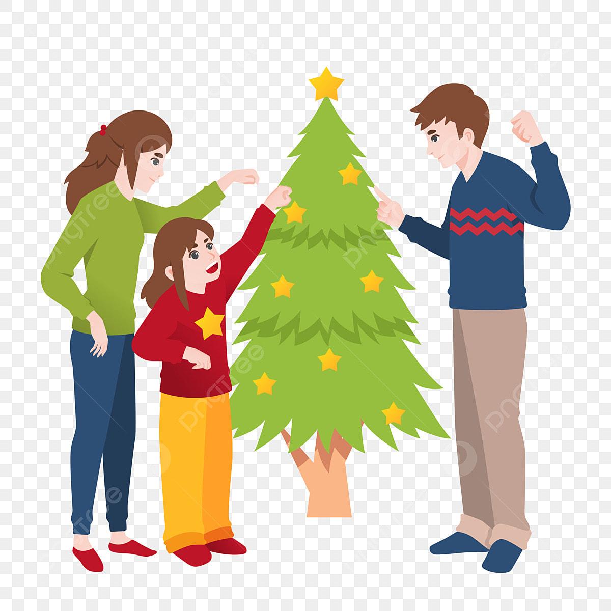 Natal Pohon Natal Hiasan Pohon Natal Keluarga Krismas