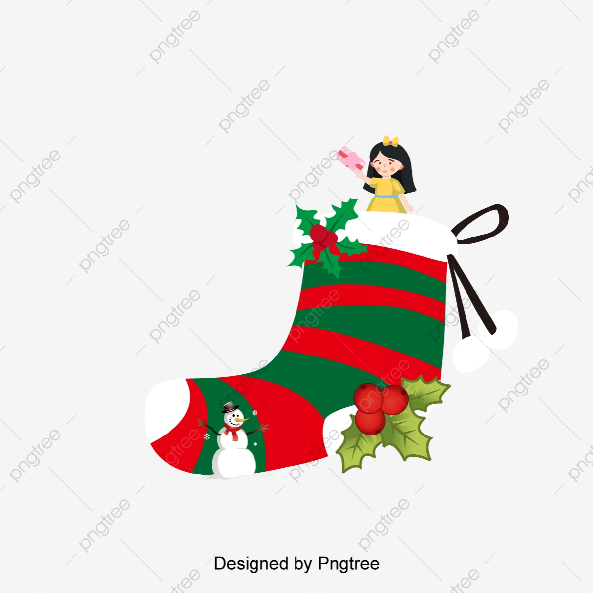 Country Christmas Background.Christmas Day Little Man Country Illustration Scene Small