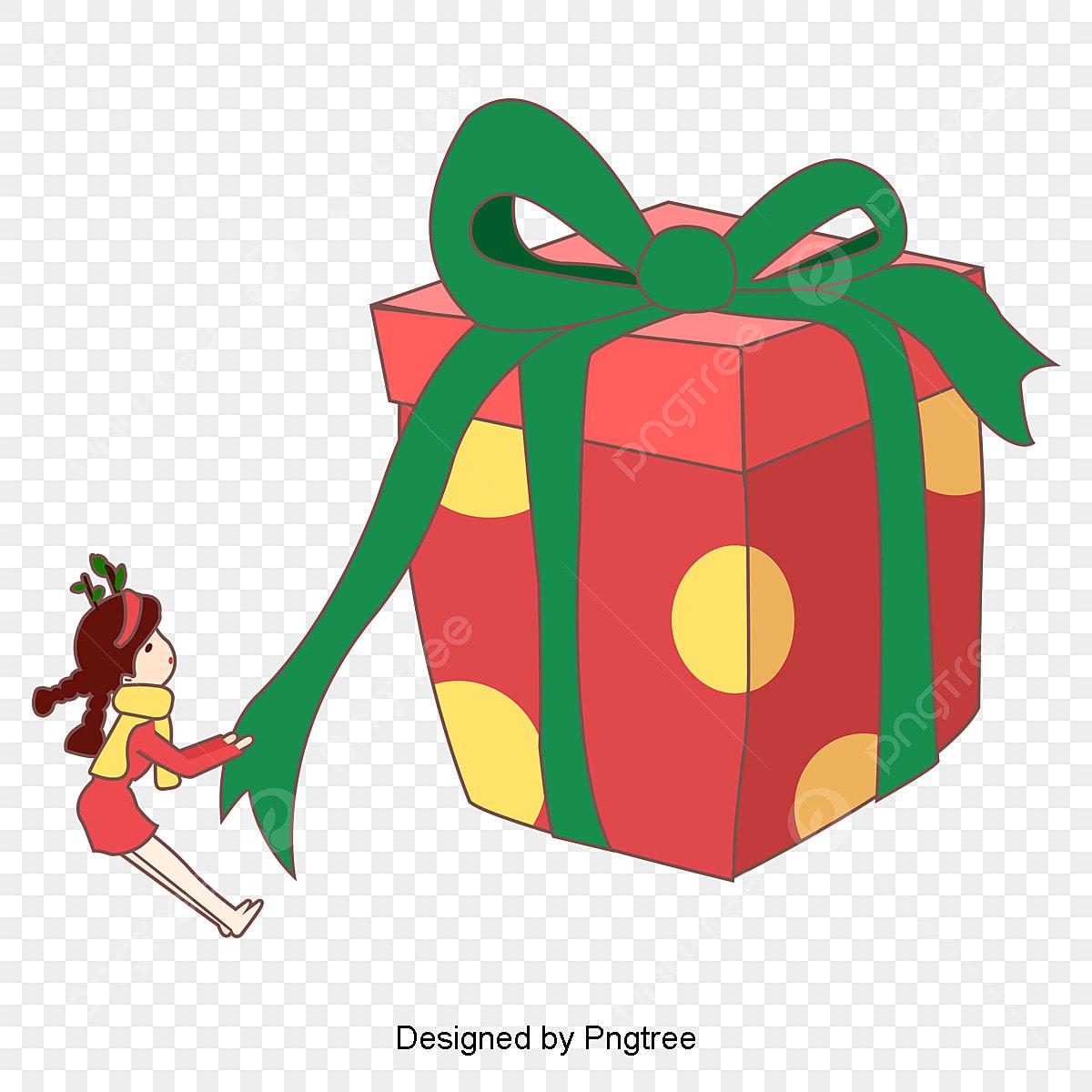 クリスマスプレゼントテーマキャラクター韓国風手描きイラスト