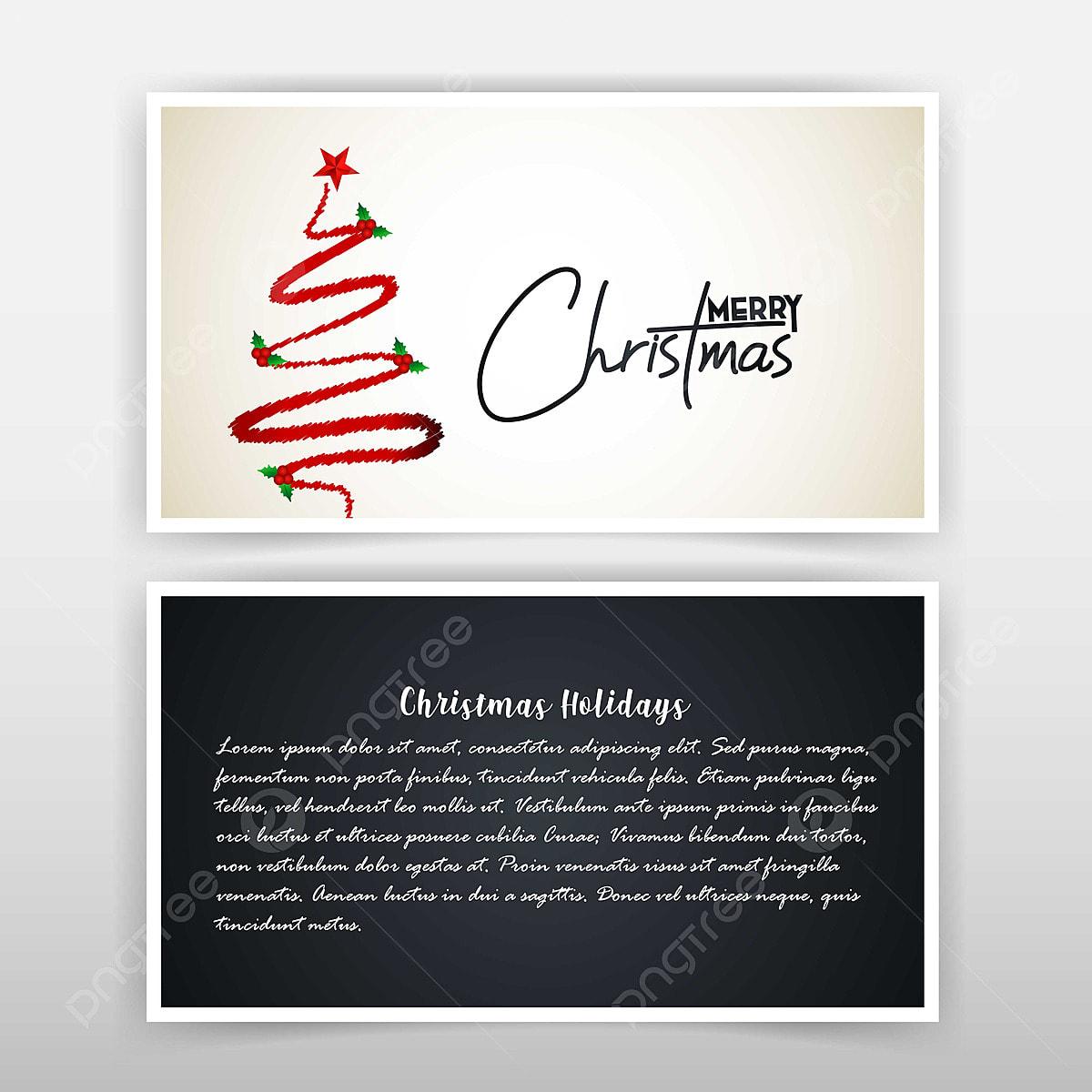 Navidad Tarjeta De Invitación Con Diseño Creativo Y Oscuro
