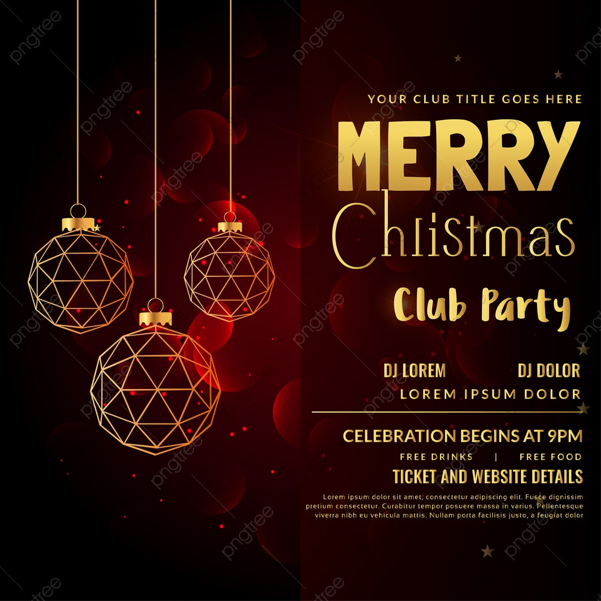 Christmas Party Poster Christmas Party Blue Christmas Christmas Png And Vector With Transparent Background For Free Download