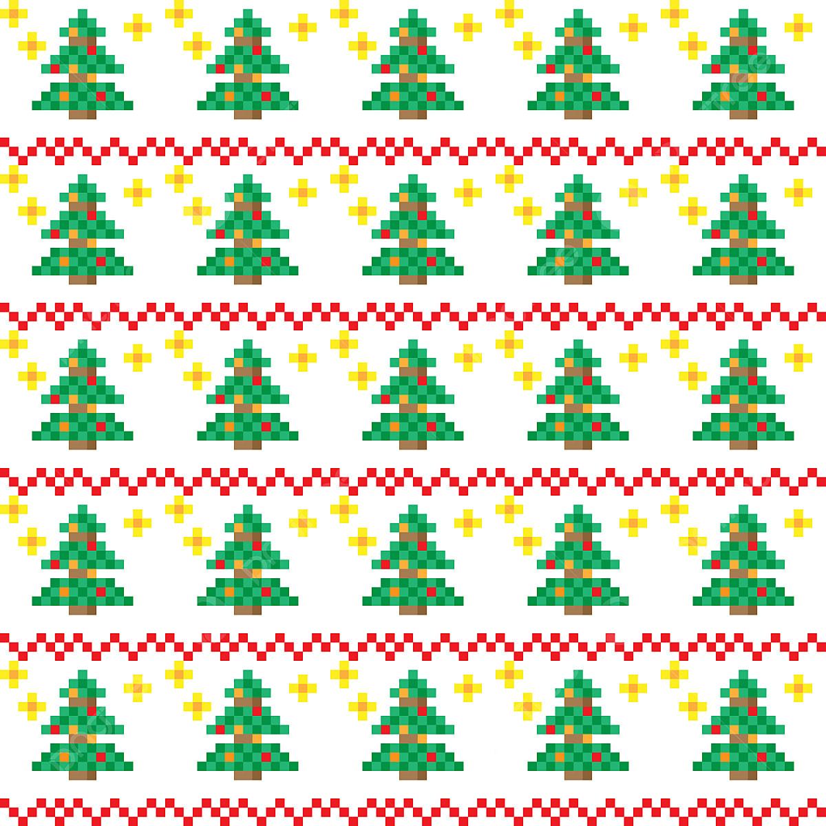 Les Schémas En Pixel Art Noël Noël Schéma Contexte Png Et
