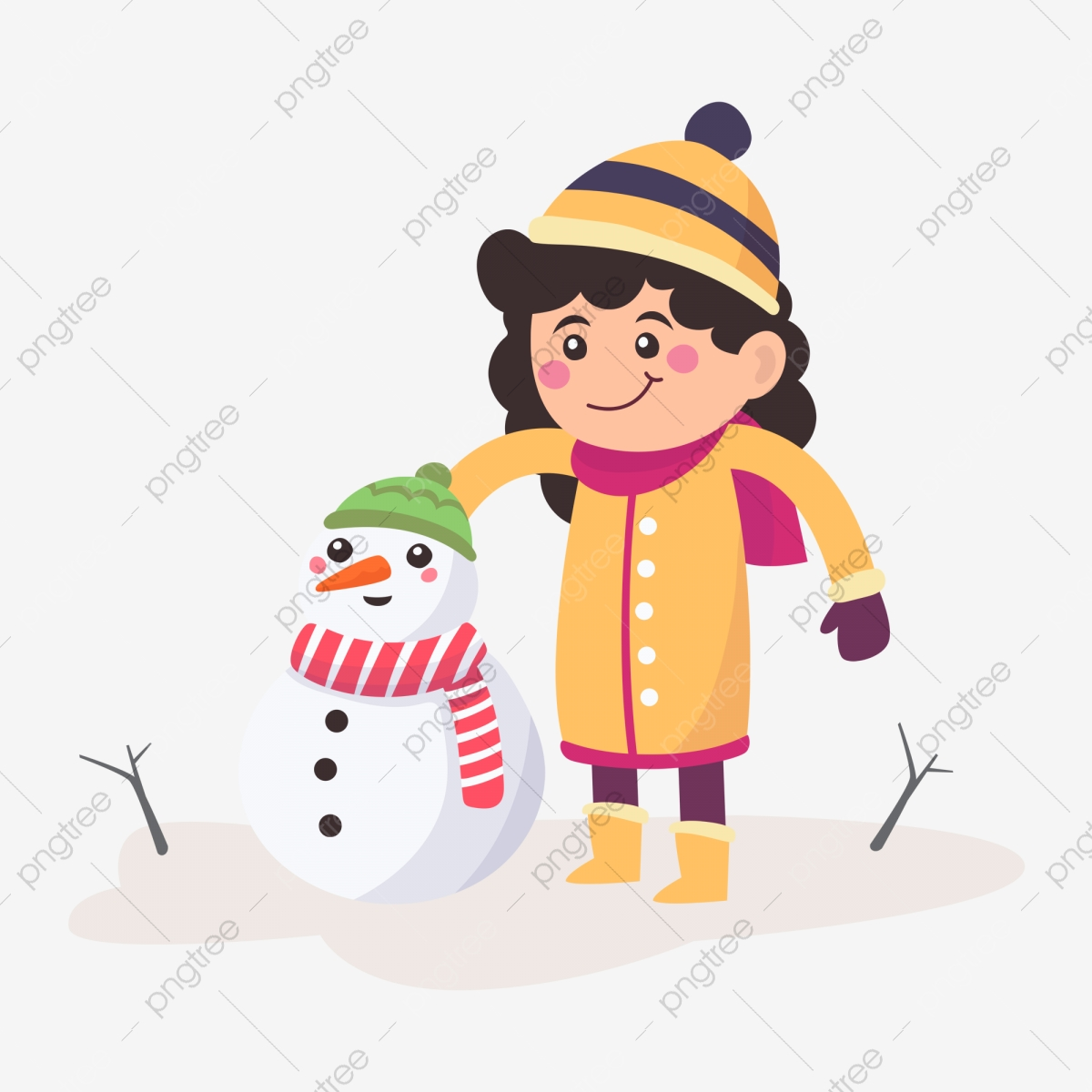 Kids Winter Activities. Children In Warm Clothes Play Outdoor.. Royalty  Free Cliparts, Vectors, And Stock Illustration. Image 64655310.
