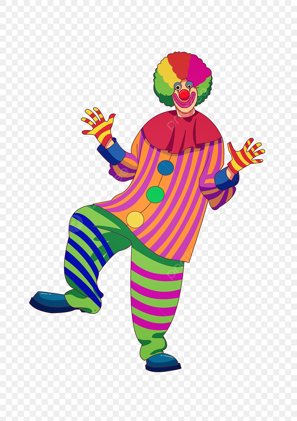 April happy. Circus clown fools day