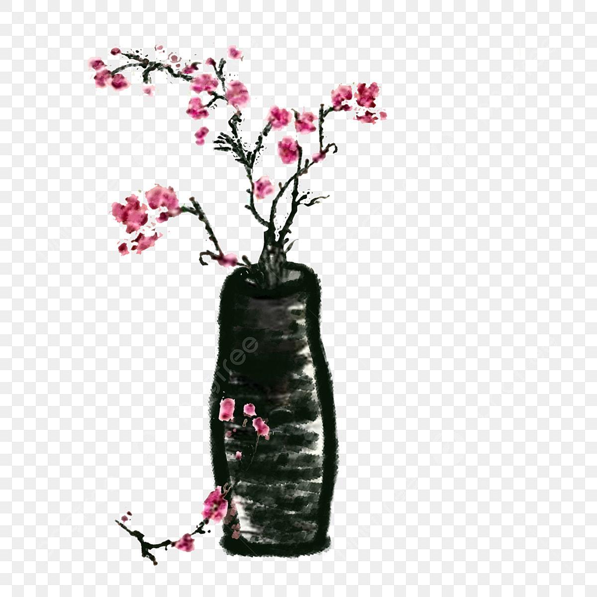 Couleur Dessin Animé Dessiné à La Main Vase Vase Branche