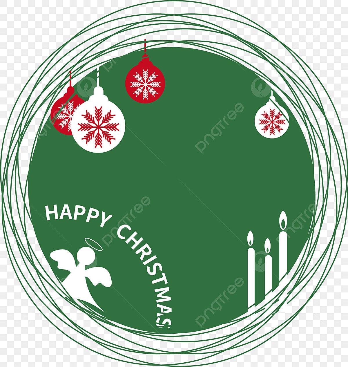 Bola Berwarna Sempadan Krismas Hiasan Percutian Bunga Natal