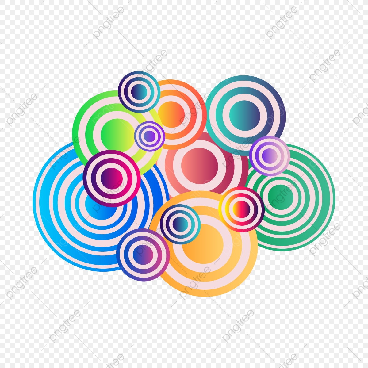 Creative Circle Colorful Abstract Background Abstract