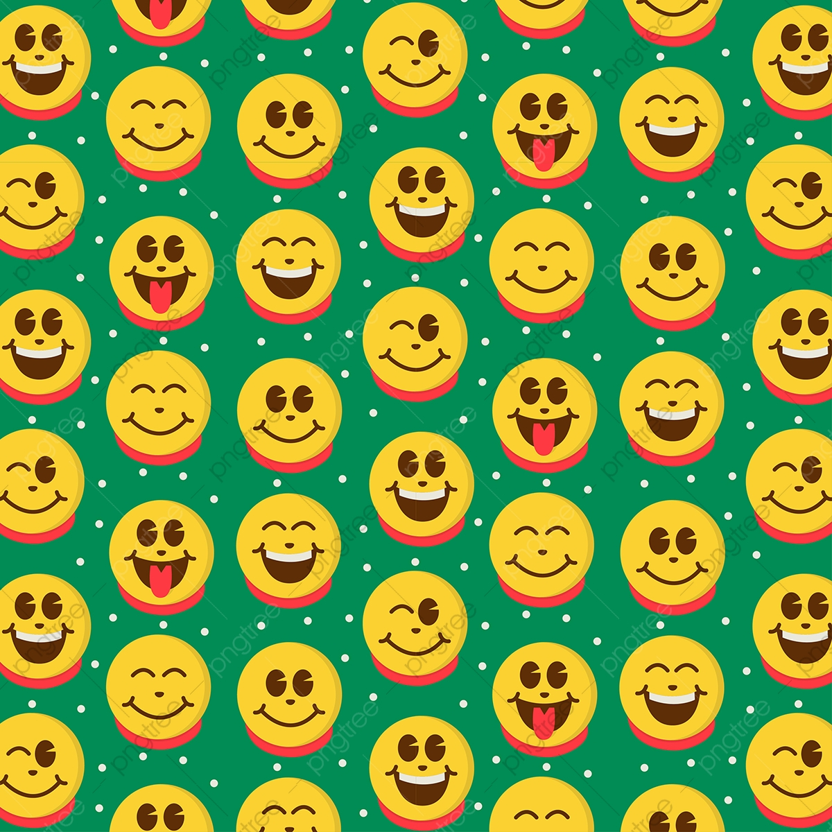 Cute Emoji For Christmas Background Pattern Christmas