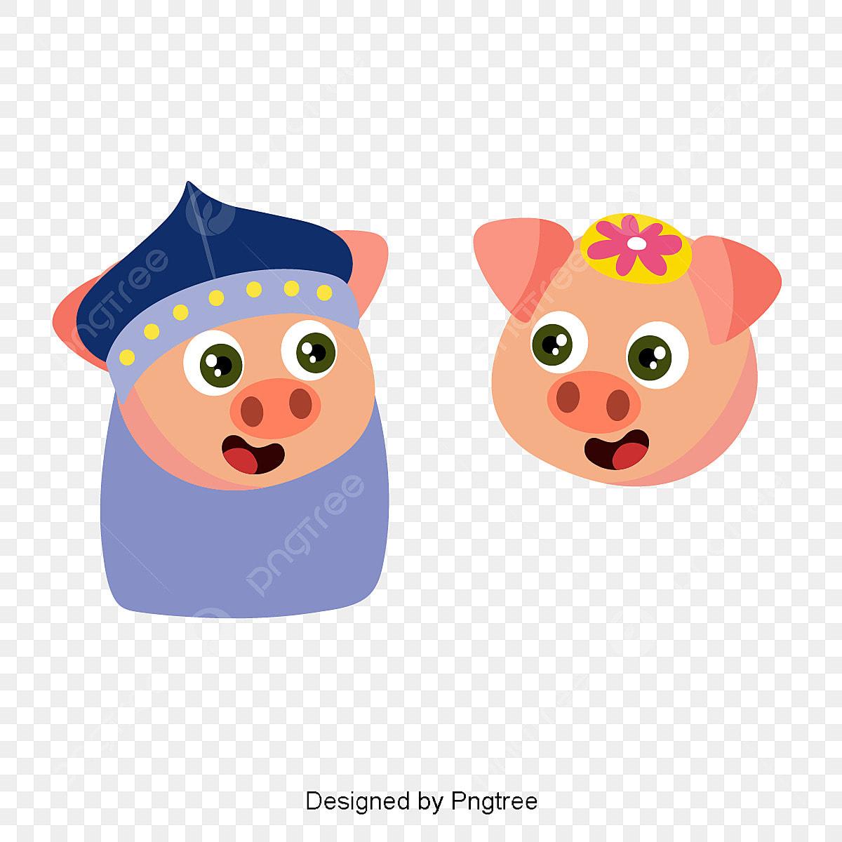 タイヤイラストかわいい豚 豚 ハンサムブタボーイ 漫画豚画像素材の無料