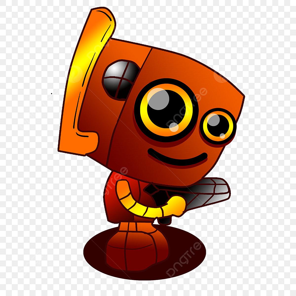 Robo Bonito Grande Cabeca Robo Robo Arma Robo Dos Desenhos