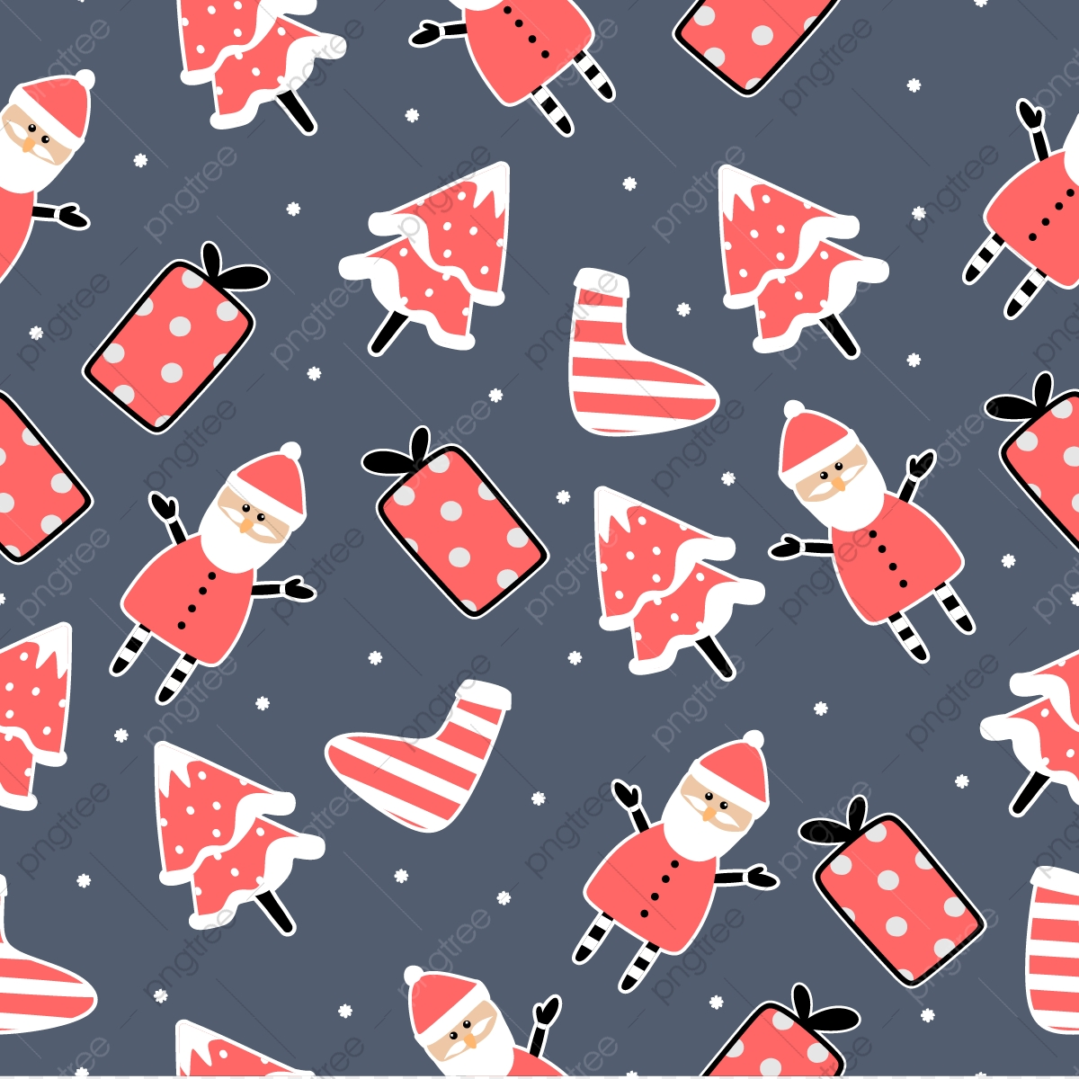 cute santa seamless pattern for christmas fashion textile print christmas seamless pattern png and vector with transparent background for free download https pngtree com freepng cute santa seamless pattern for christmas fashion textile print 3708140 html