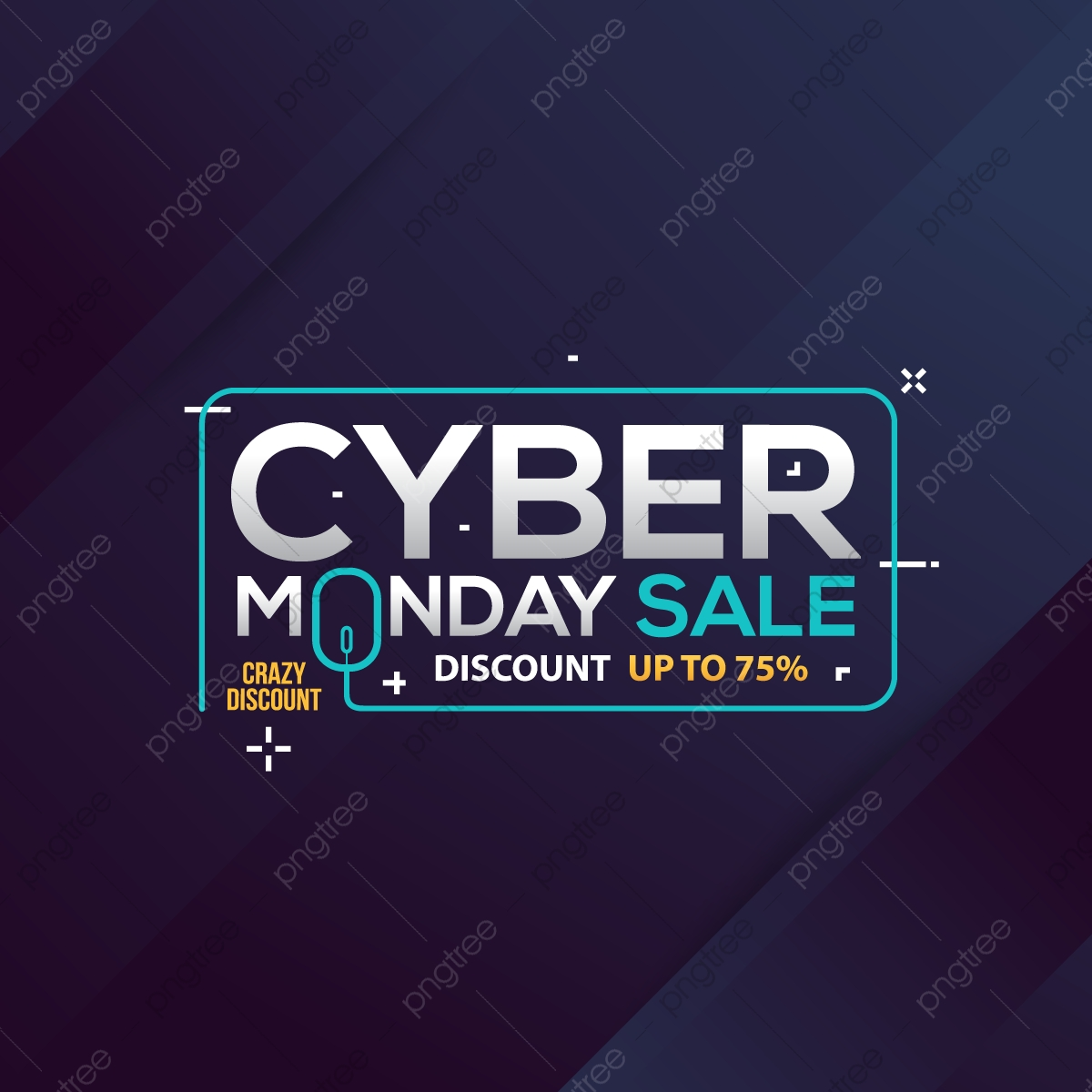 d9f85d3339d Cyber Monday Sale Banner With Trendy Geometric Background, Cyber ...