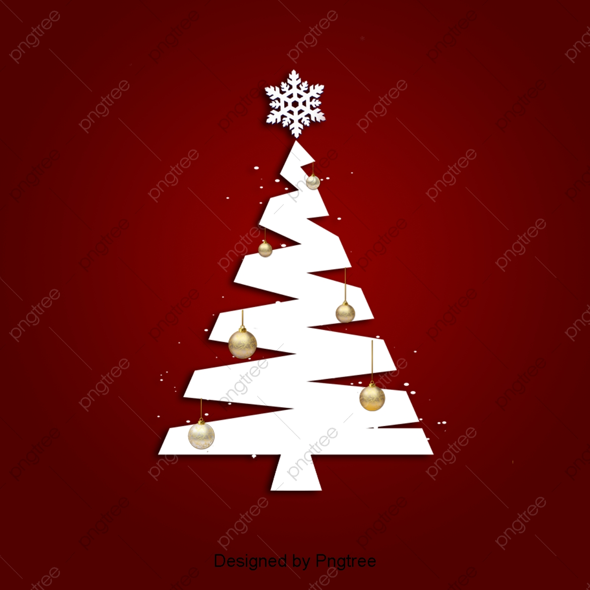 pngtree dark red retro christmas tree background png image 3710904