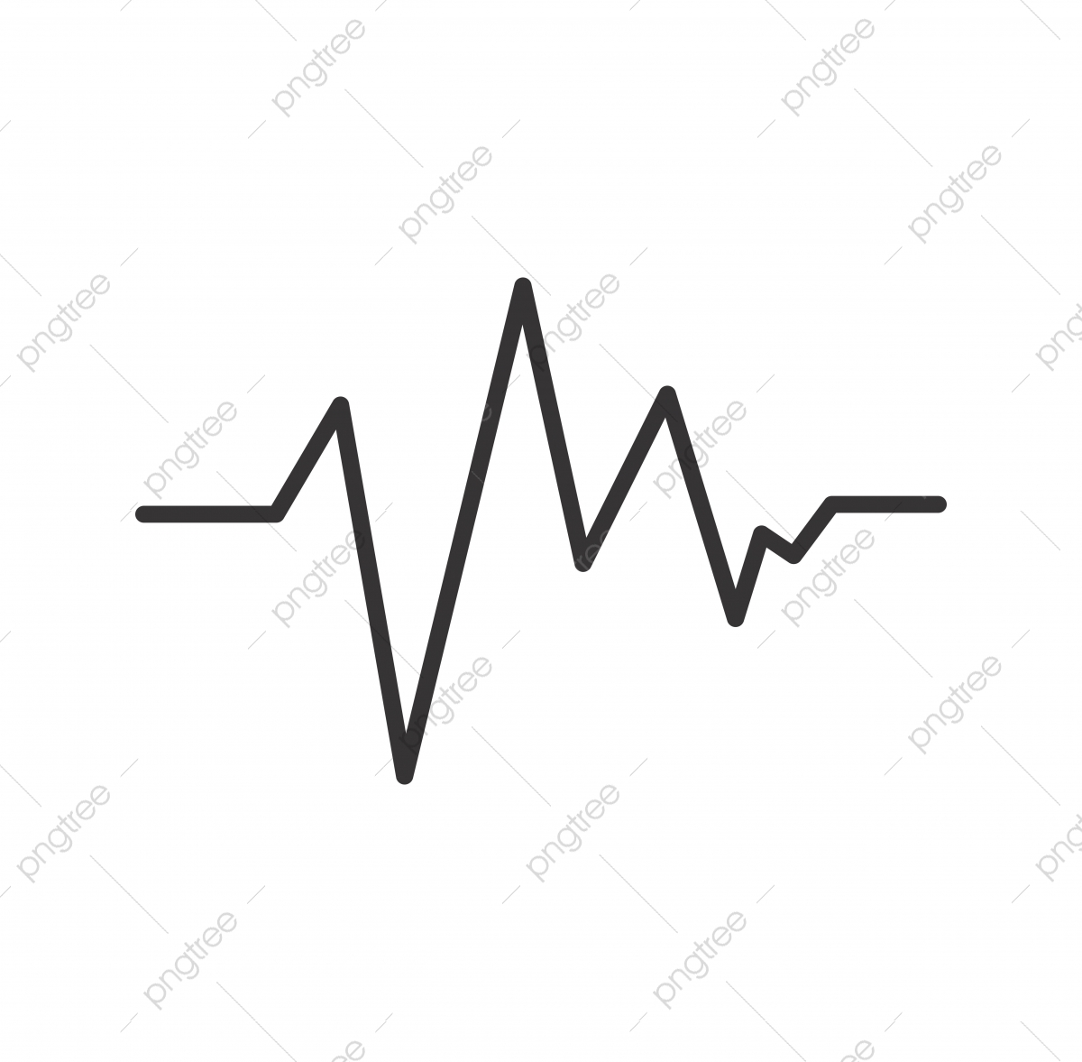 ECG Line Black Icon, Ecg, Graph, Life PNG and Vector with