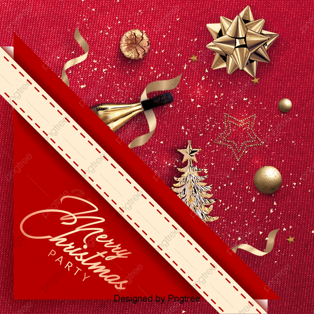 Christmas Invitation Background Png.Exquisite Christmas Party Invitation Poster Background