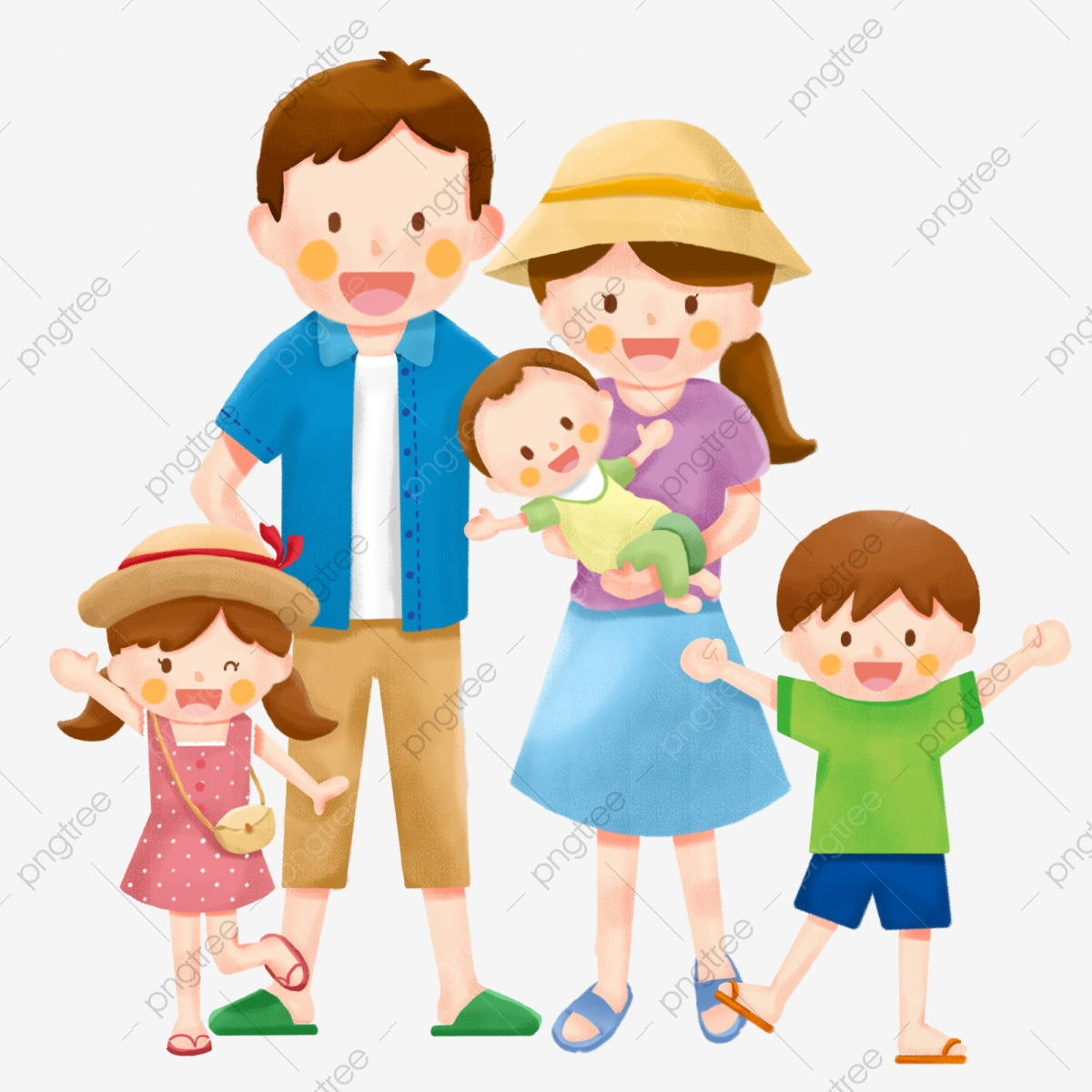 Family Family Family Of Five Travel Tourism Holiday Play Png Transparent Clipart Image And Psd File For Free Download