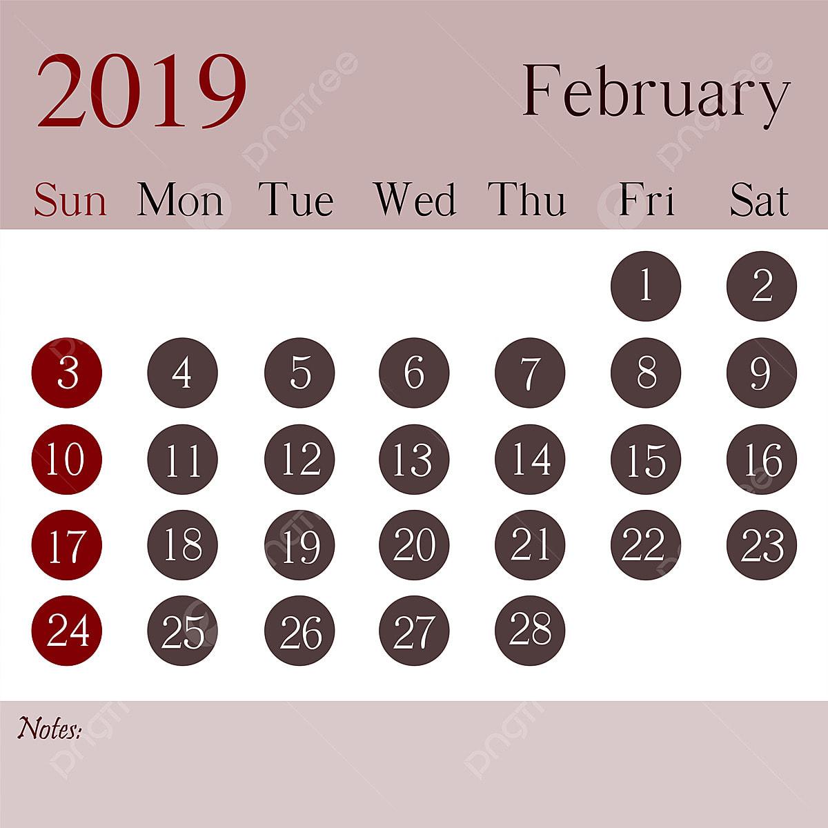 February 2019 Calendar Design Template 2019 Calendar Calendar