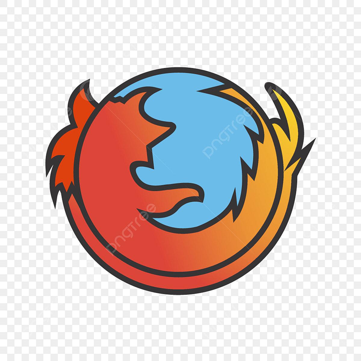 Firefox Logo Line Filled Icon, Firefox Logo, Logo, Browse