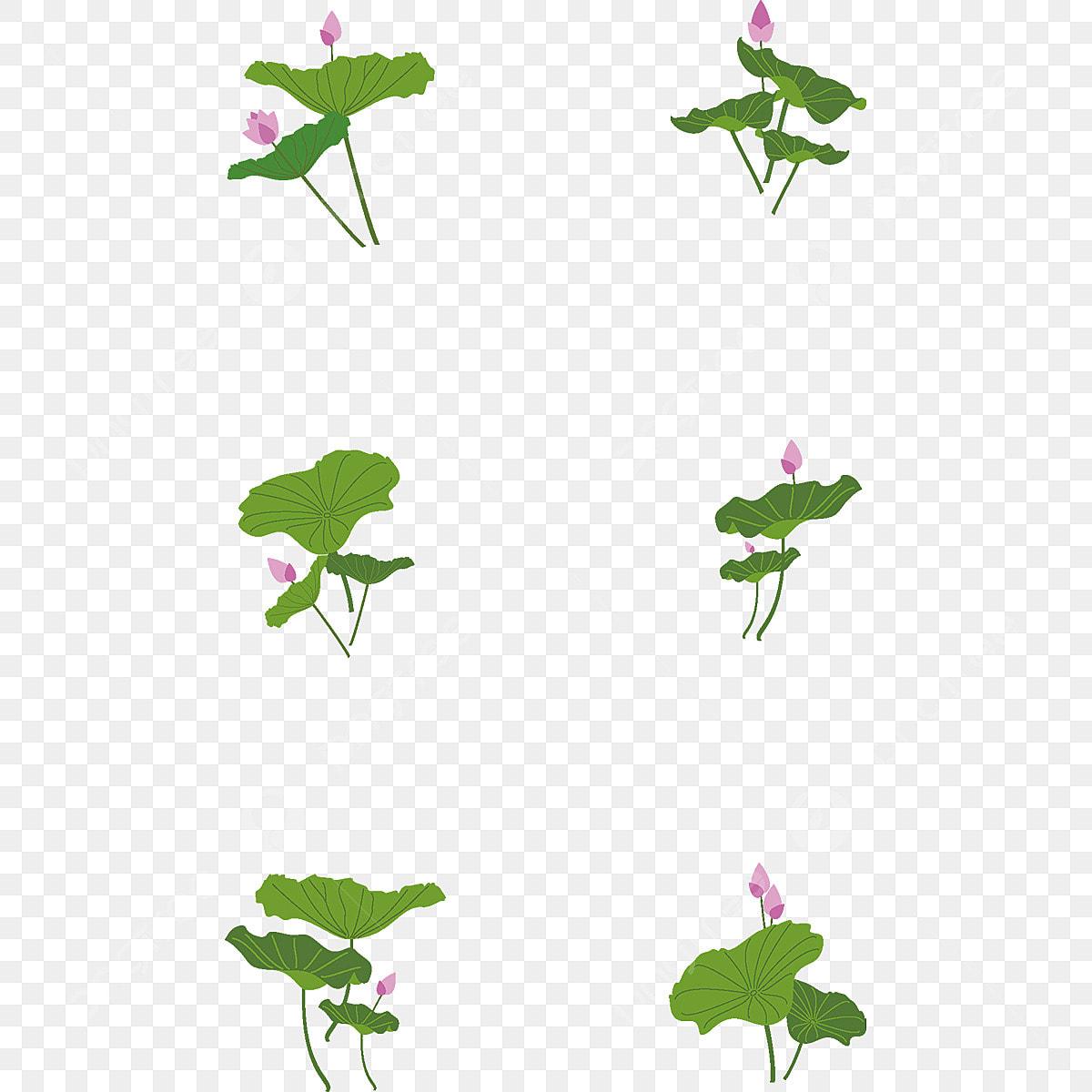 Dessin De Feuilles De Lotus élément Plat Simple Une Faible
