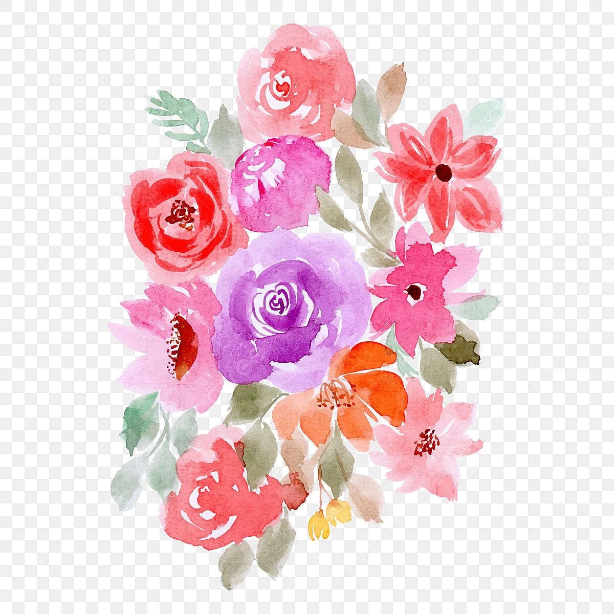 Arreglo Floral Fondo De Acuarelas Flor Acuarela Png Y