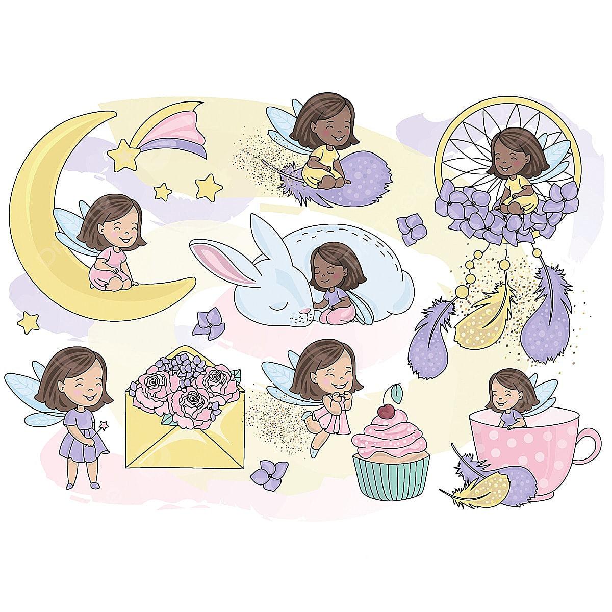 Fairy birthday. Glitter clipart sparkling color