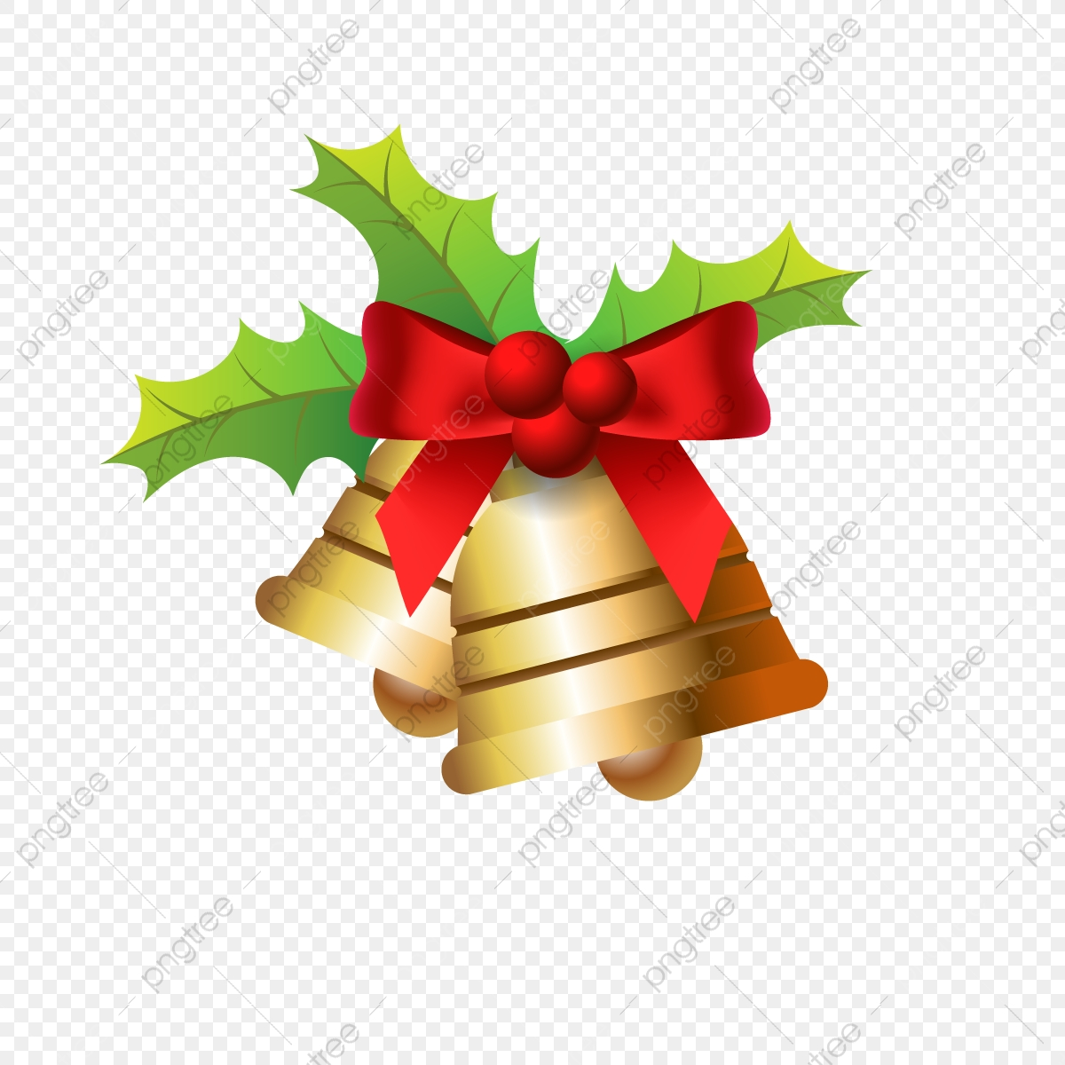 Golden Christmas Bells Christmas Background Decoration