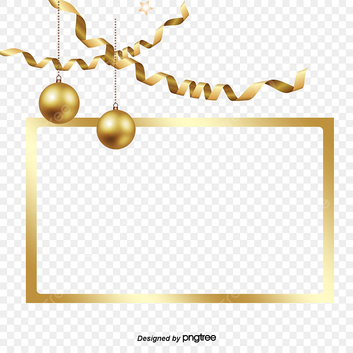 Christmas Chain Png.Golden Christmas Decoration Star Ribbon Border Bright
