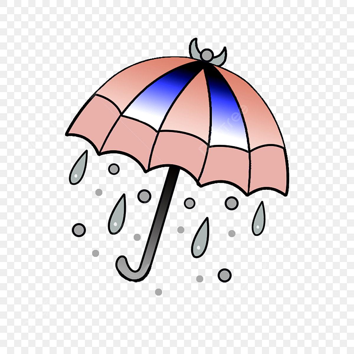 Dégradé dessin animé parapluie il pleut gratuit png et psd