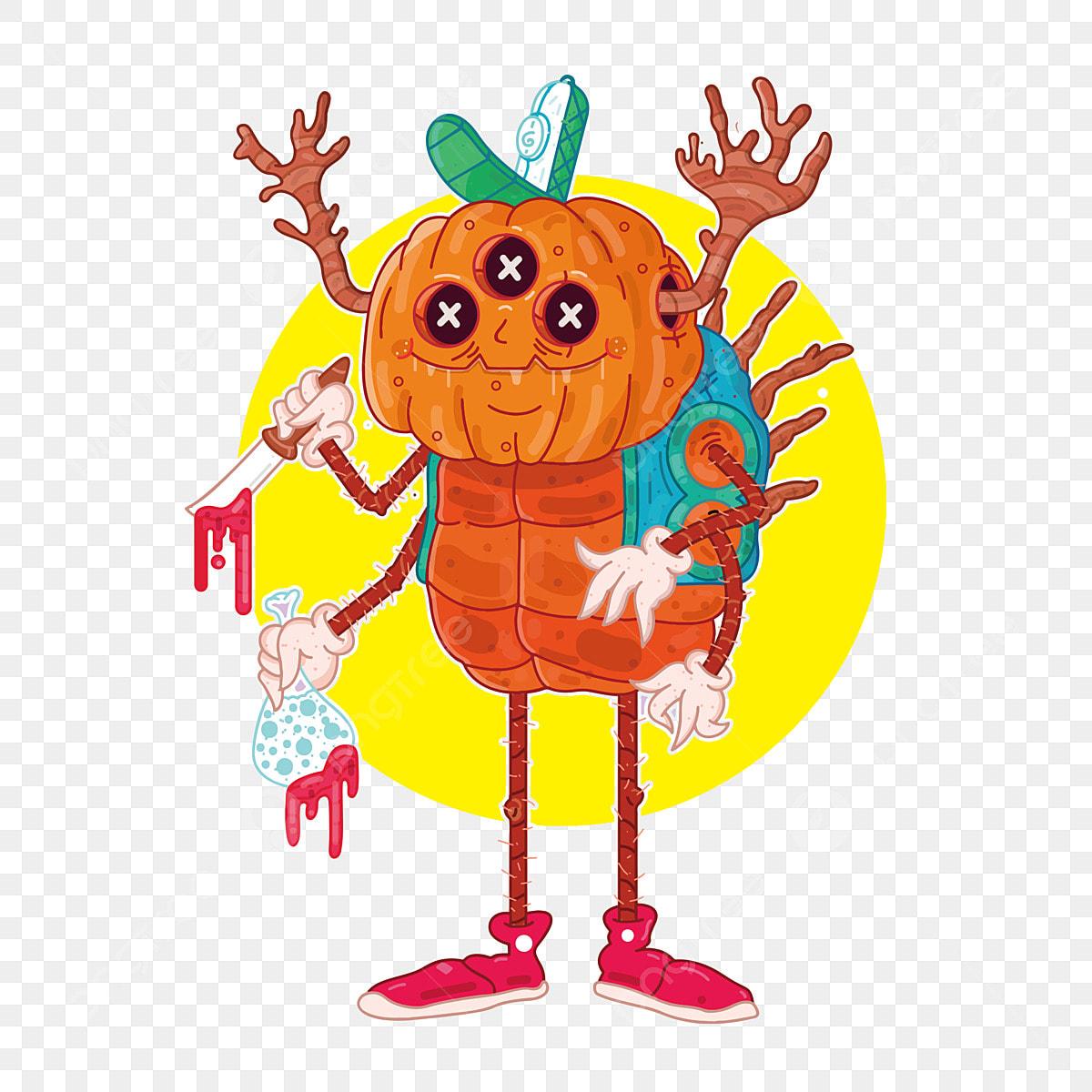 Desenho De Imagem De Desenhos Animados De Halloween Mal Do
