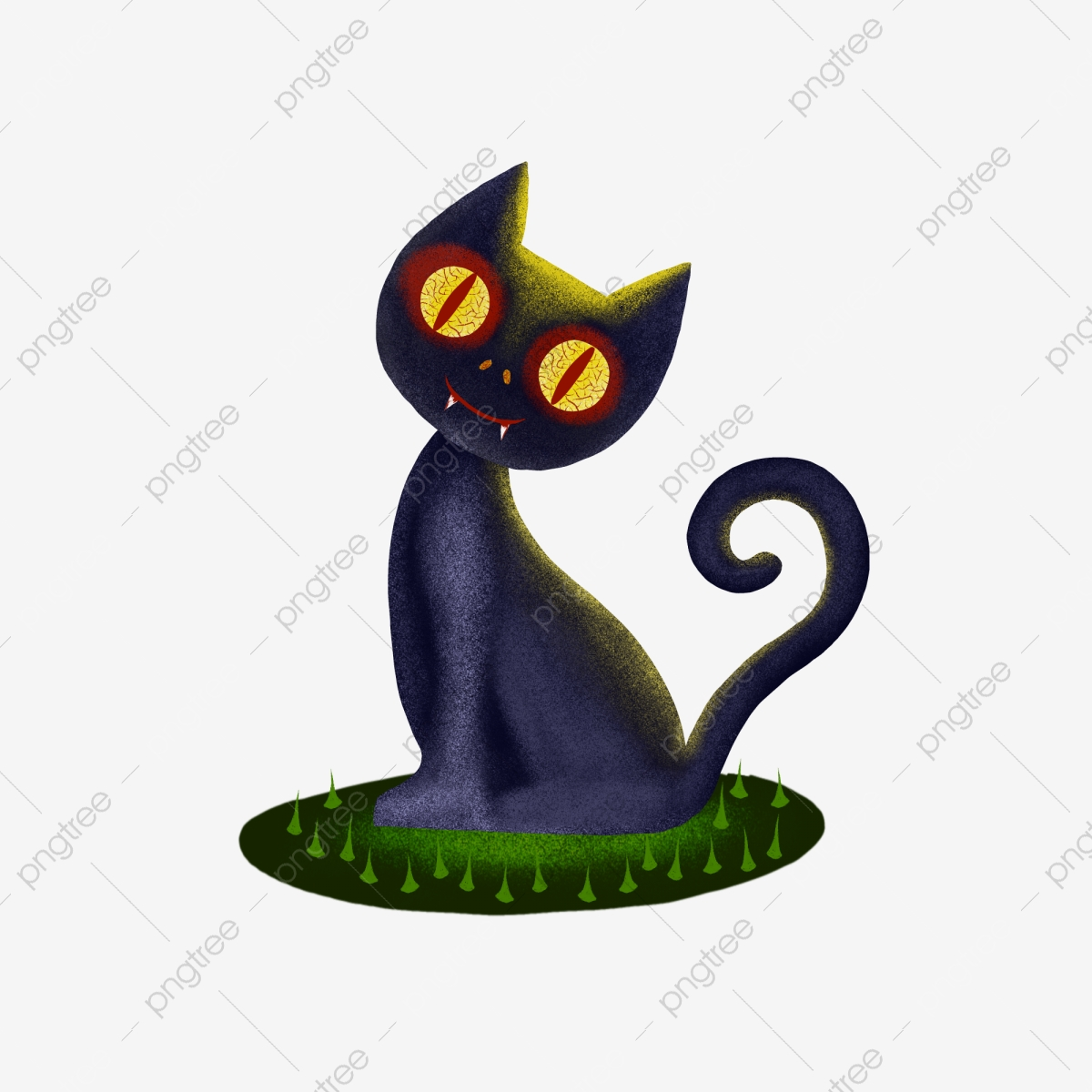 Halloween Evil Black Cat Stay Cute Cat Bloody Horror, Scary