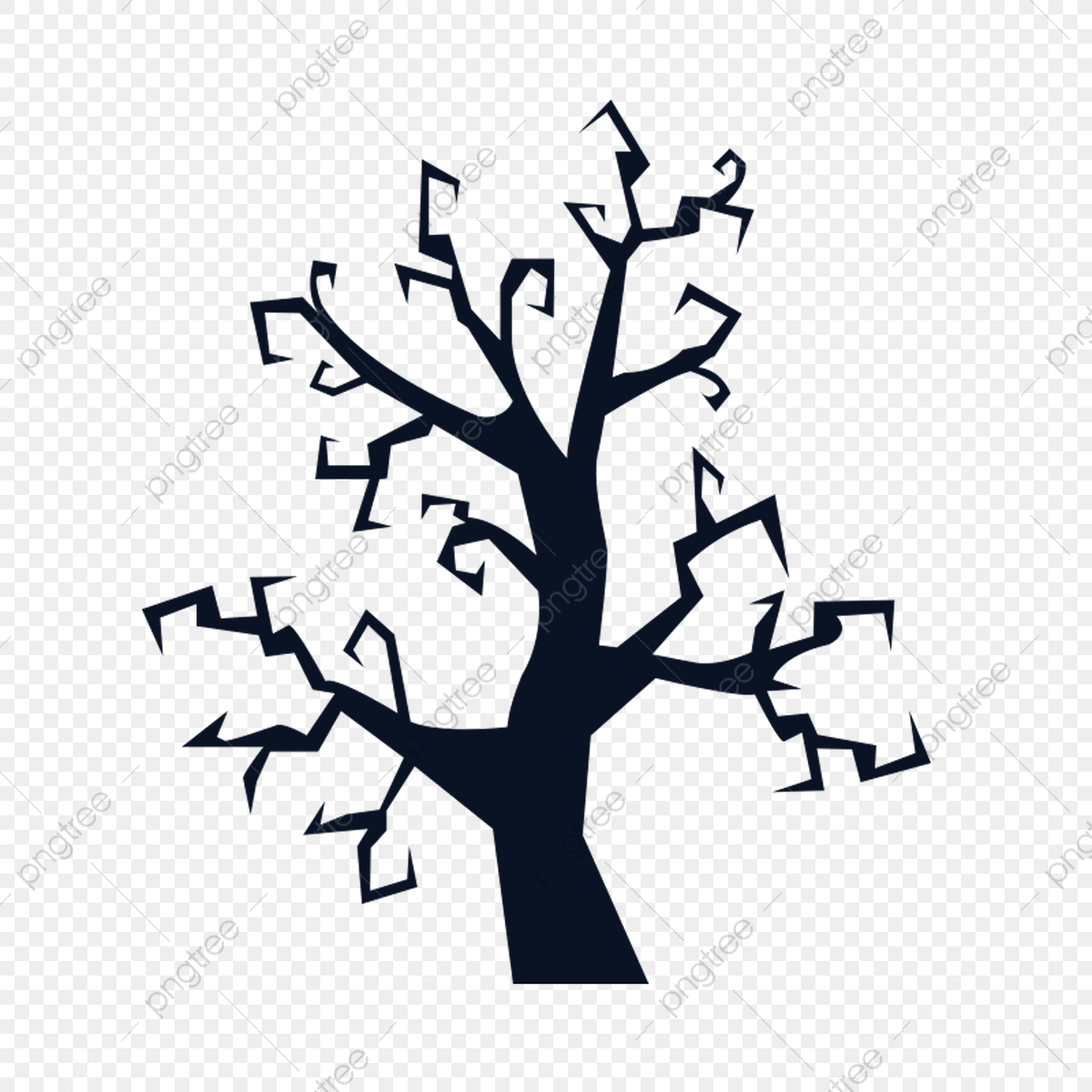 Halloween Tree Silhouette Tree Autumn Png Transparent Clipart Image And Psd File For Free Download