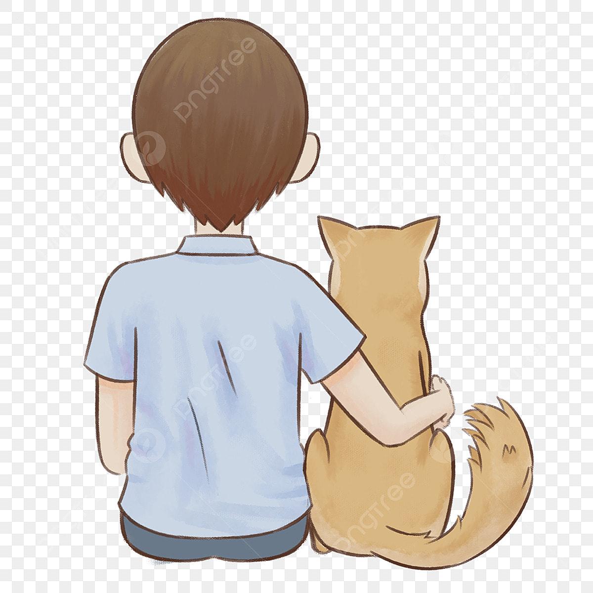 犬のイラストと手漫画漫画少年 秋田 日本 志沢画像とpsd素材ファイルの