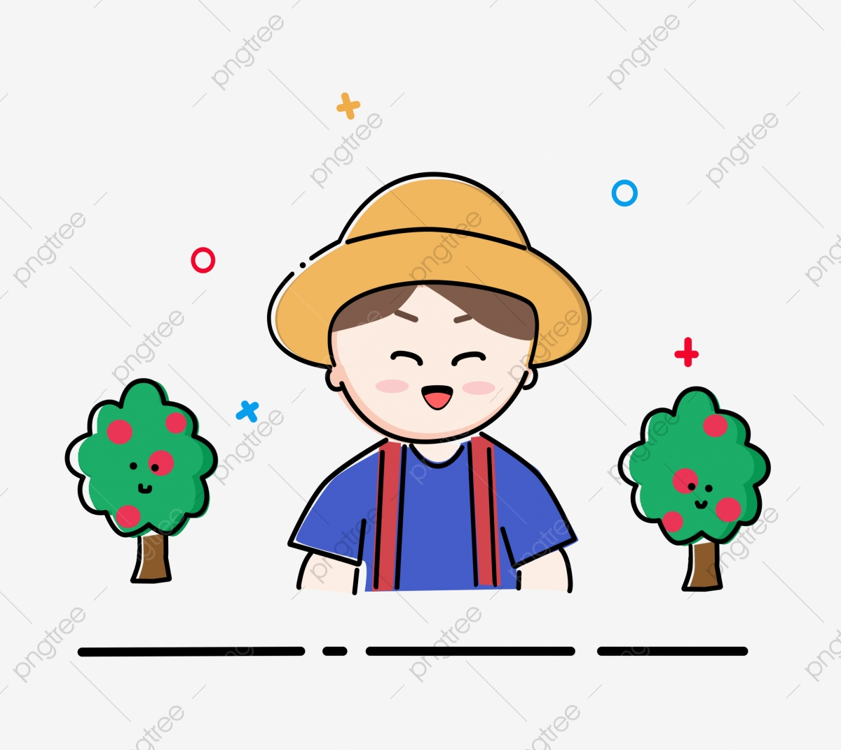 Vector Clipart - Happy farmer. Vector Illustration gg68519078 - GoGraph