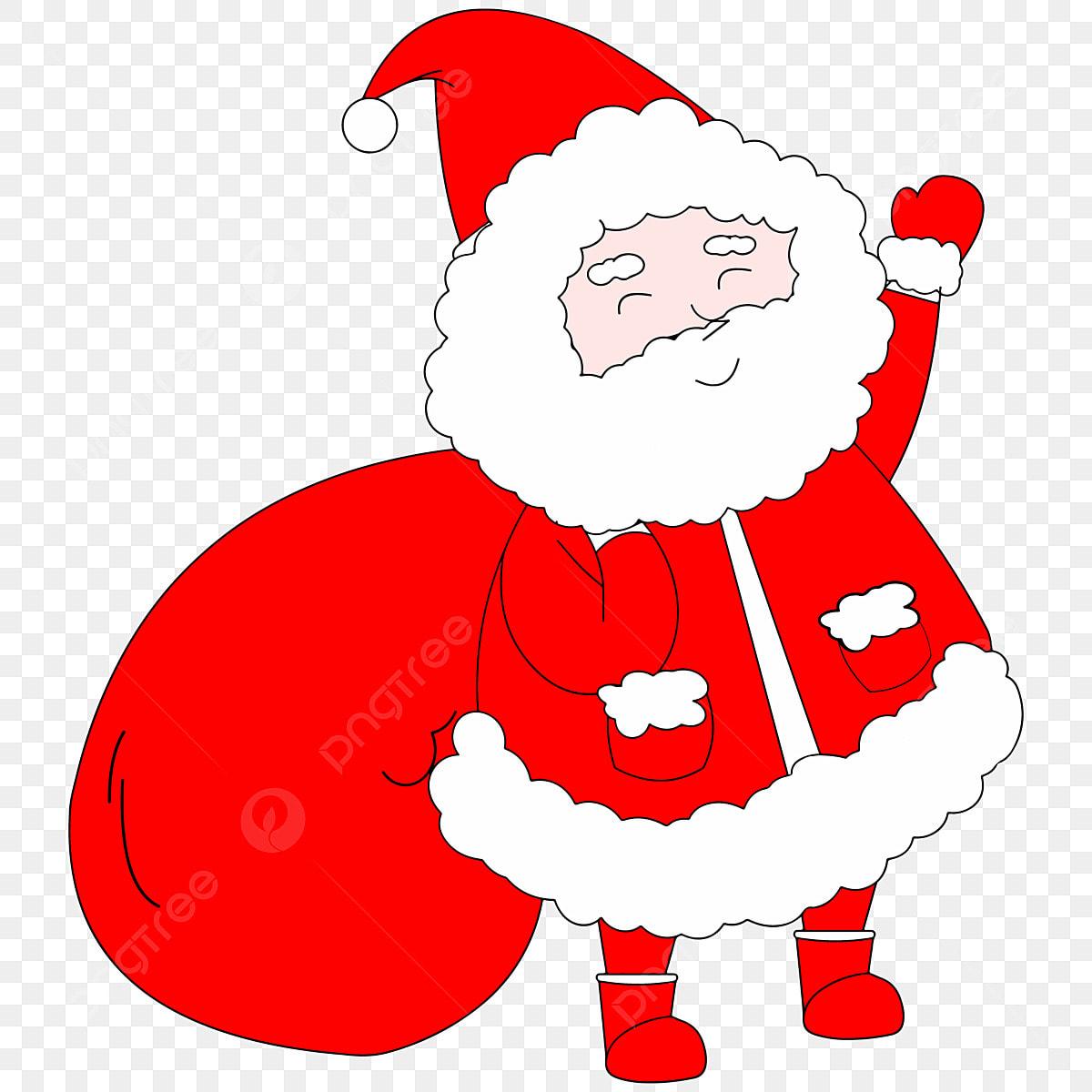 Père Noël Style Dessiné à La Main Joli Père Noël Dessin
