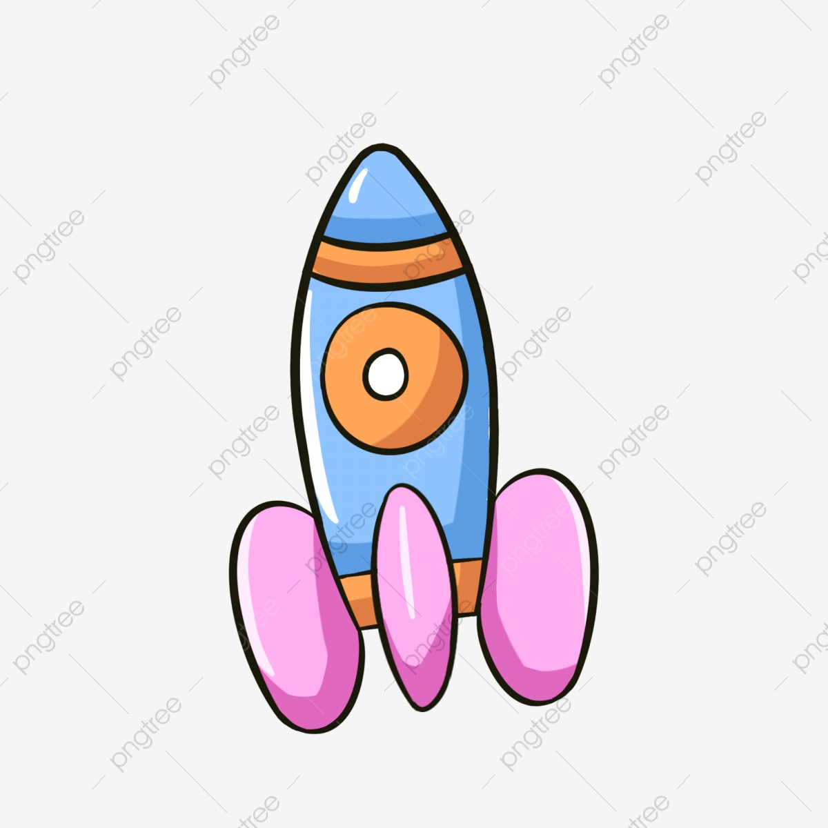 مرسومة باليد رسوم متحركة المركبة الفضائية رسم للأطفال صاروخ مركبة فضائية الفضاء Png وملف Psd للتحميل مجانا