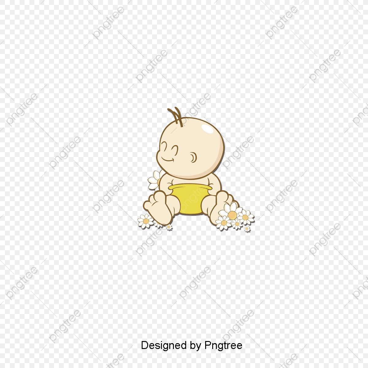 Hand-painted Cute Baby Avatar Design Material, Cute, Baby