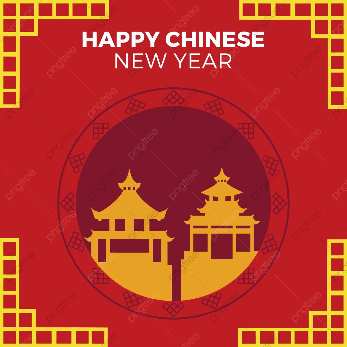 Happy Chinese New Year Vector Of Abstract Chinese New Year