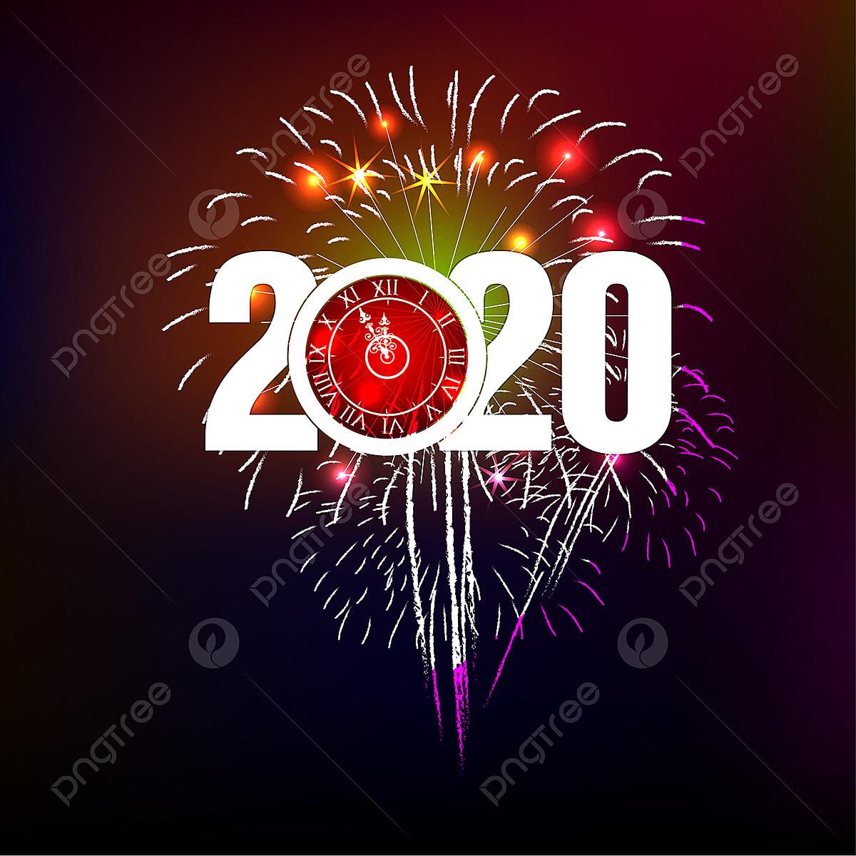 Neujahr 2020 Frohes Neues Jahr 2020