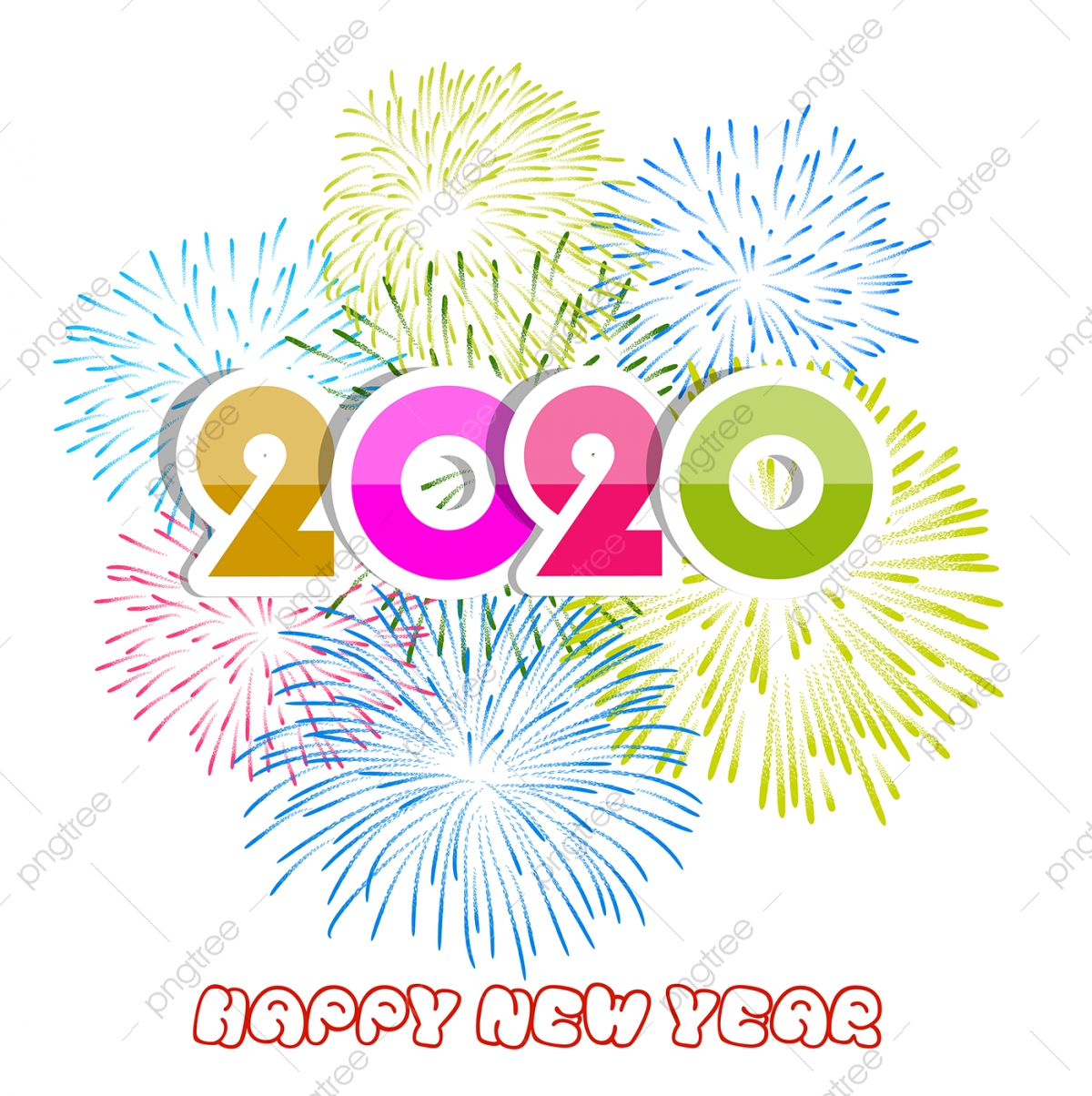 new year png vector psd and clipart with transparent background for free download pngtree https pngtree com freepng happy new year 2020 background with fireworks 3713320 html