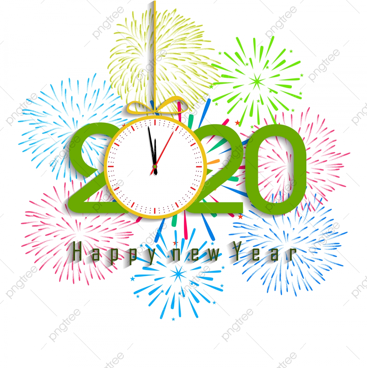 Happy New Year 2020 Background With Fireworks 2020 ...