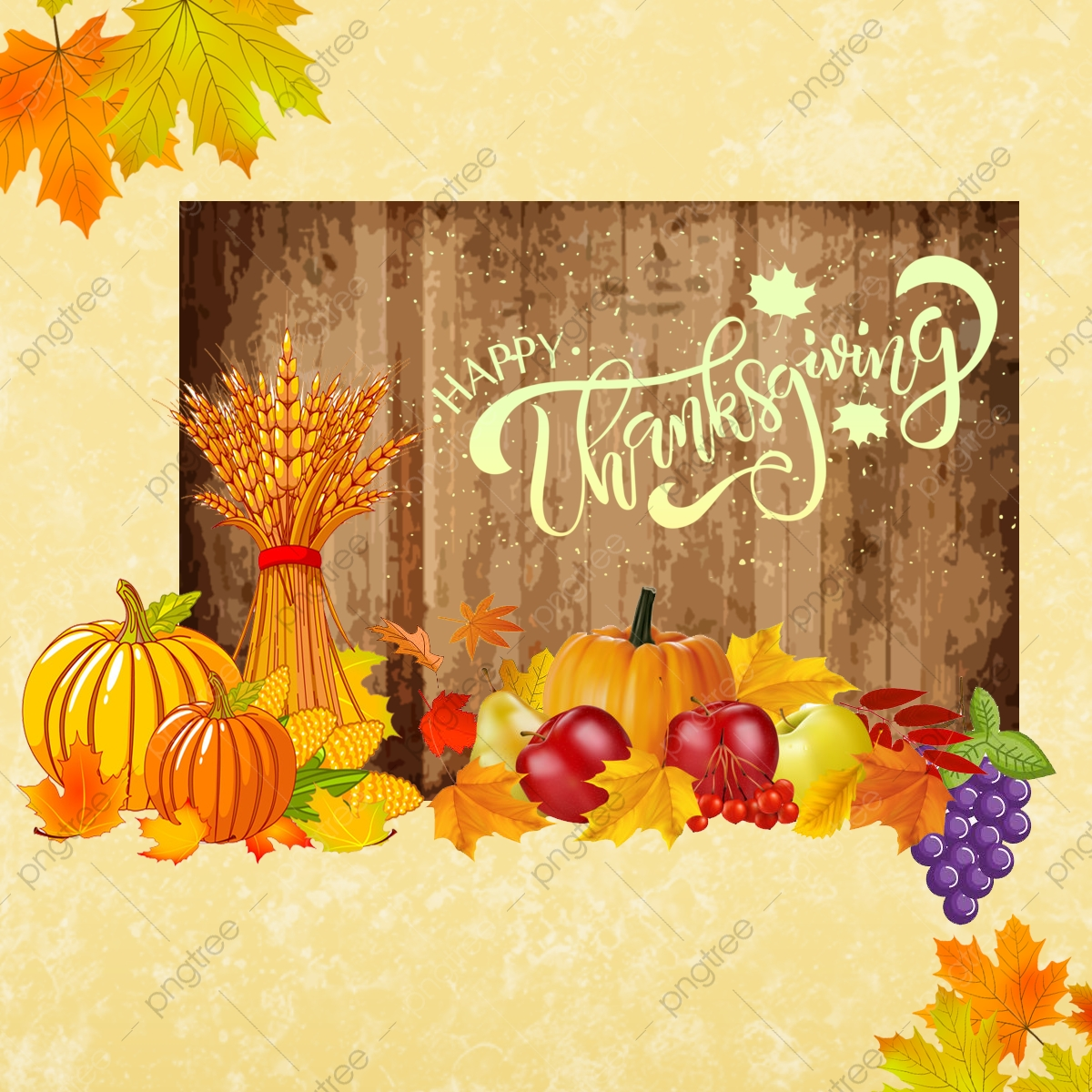 Happy thanksgiving background. Png transparent clipart