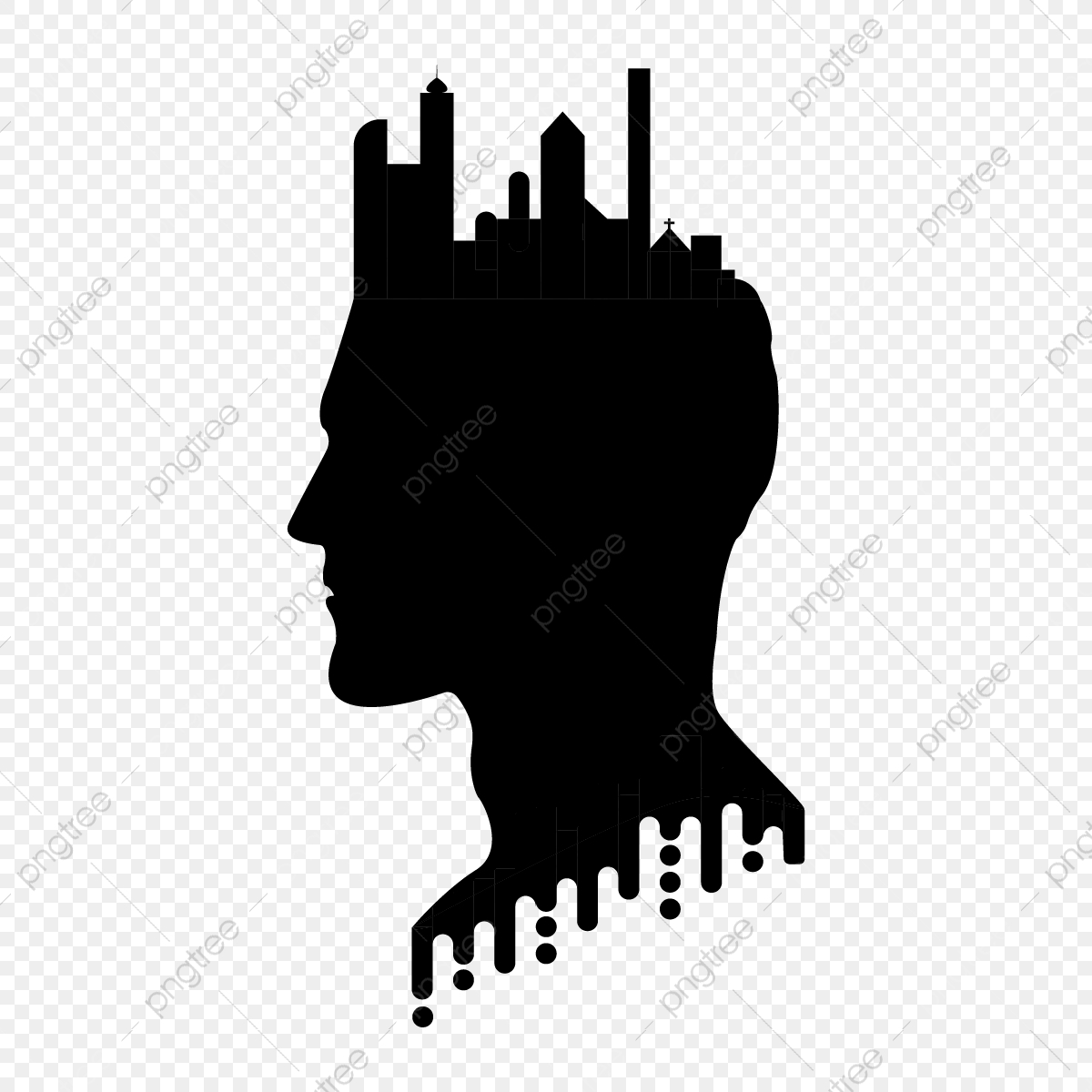 Skull Head Png Silhouette Clipart - free transparent png images - pngaaa.com