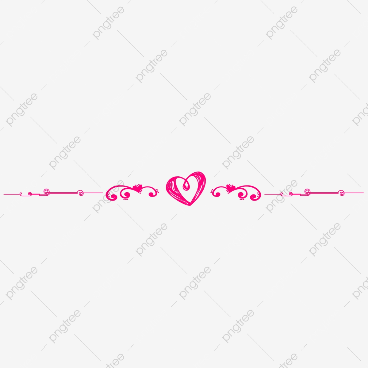 Line pink. Heart pattern division love