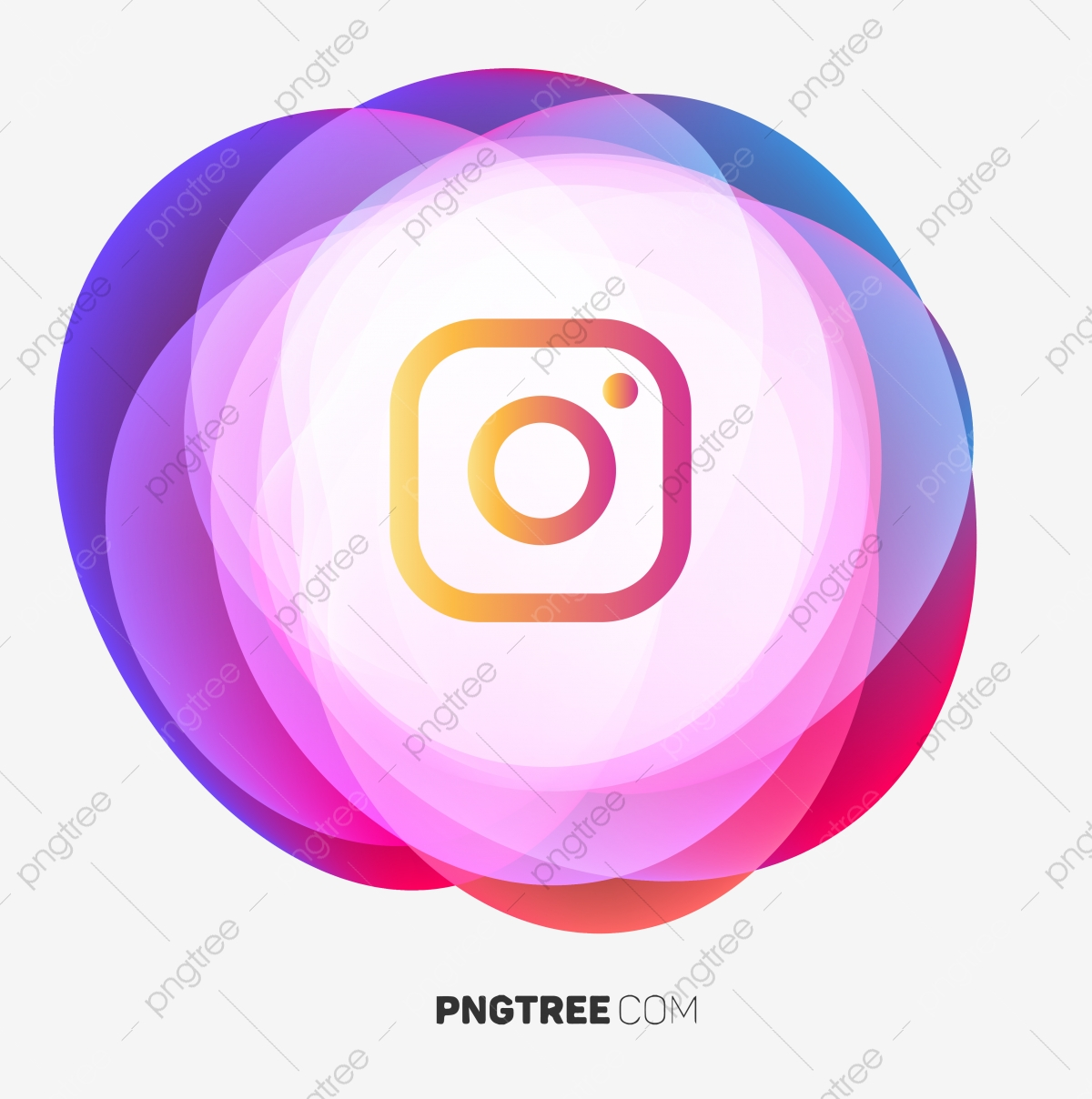 Instagram Icon Abstract Geometric Fluid App Icon Colorful Icon Ig Icon Png And Vector With Transparent Background For Free Download