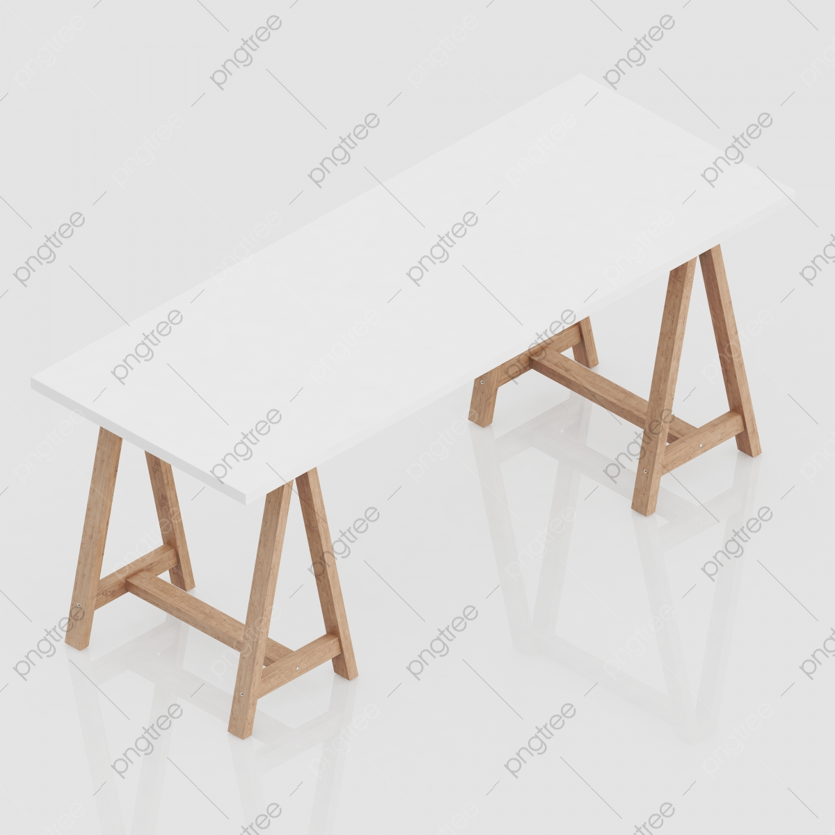 Isometric Office Accessories 3d Renders Backdrop Background