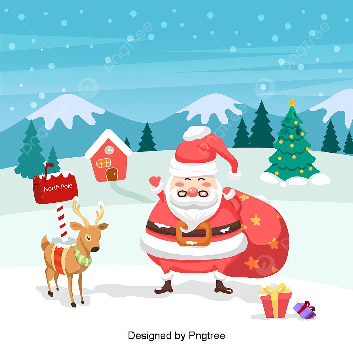 Christmas Celebration Cartoon Images.Korean Cartoon Santa Claus Christmas Celebration Xie And