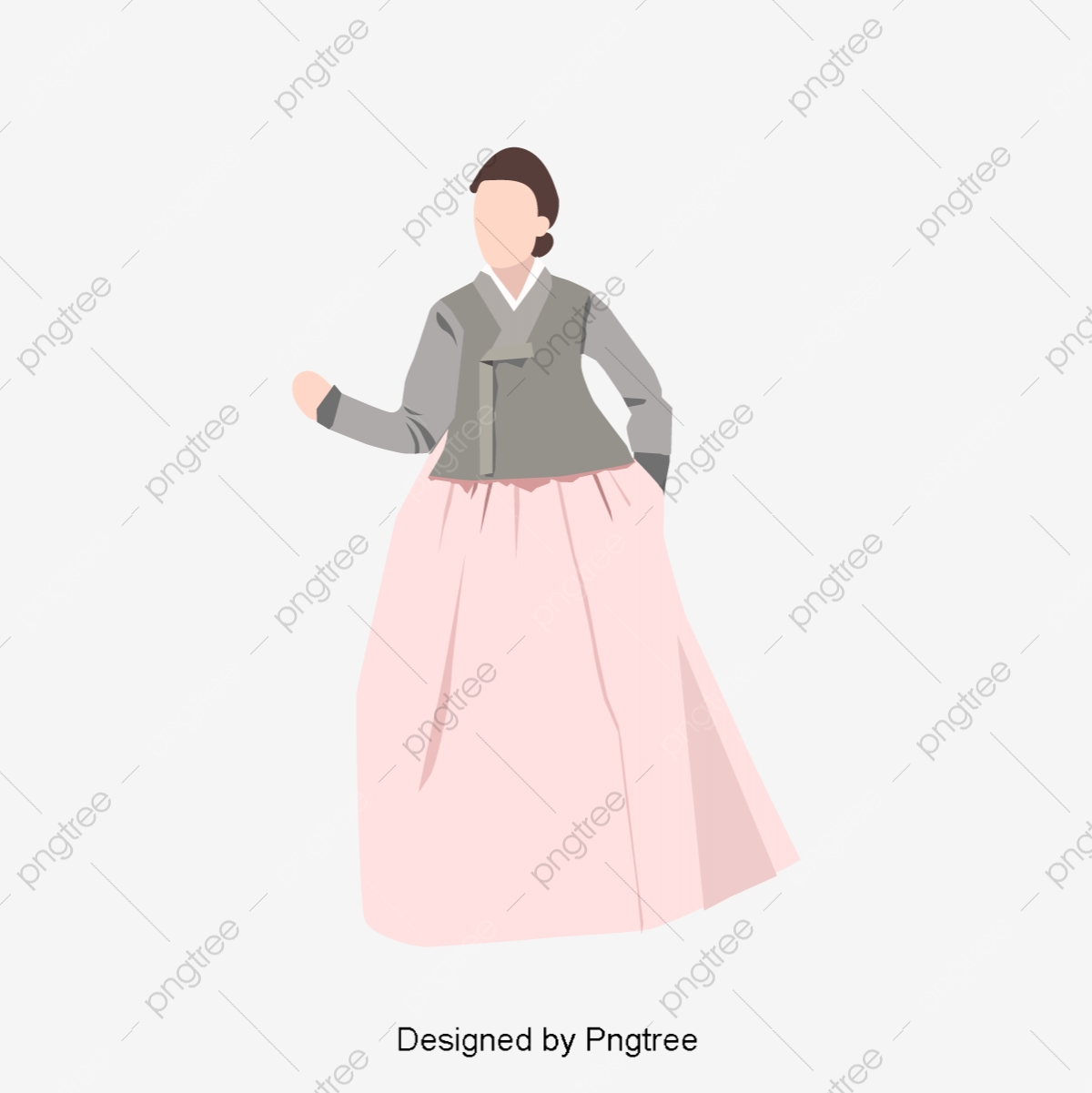 Korean Traditional Dress Of The Han Korea Costume Hanbok Png And