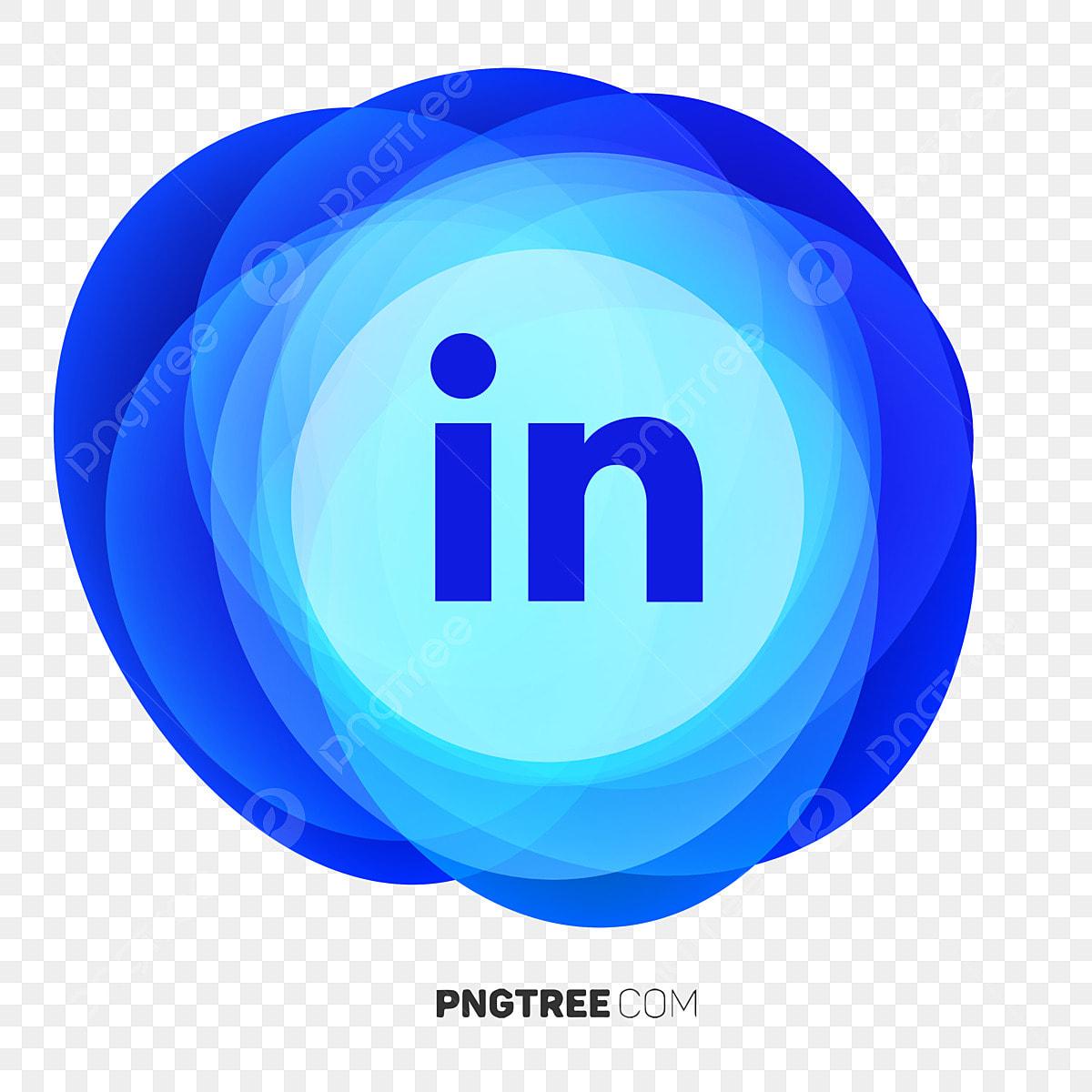 Linkedin Icon Abstract Geometric Fluid Linkedin Logo