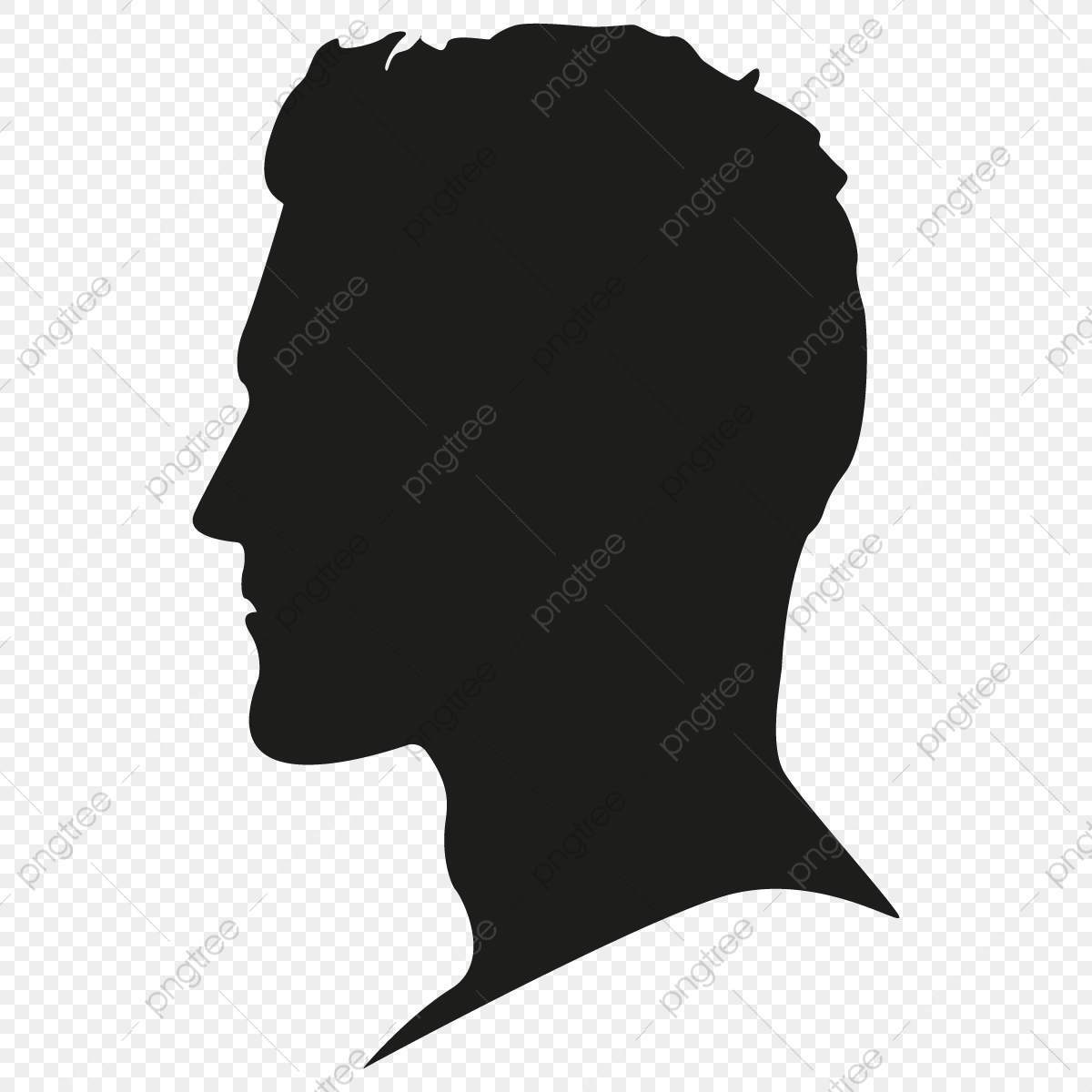 Male Silhouette Head Vector Png Free, Male Silhouette Head